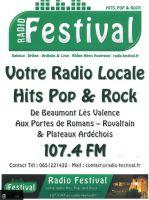 Il est arrivé ! Écoutez notre Spot Pub sur votre RADIO locale : RADIO FESTIVAL 107.4 FM !!!