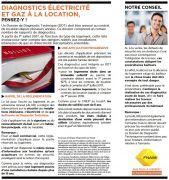 Diagnostic électricité et gaz : IMPORTANT